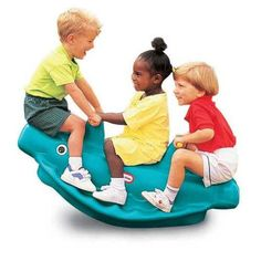 Little Tikes Whale Teeter Totter, that is a fun whale-shaped see-saw for kids.  - #Outdoor #Play  #Toys