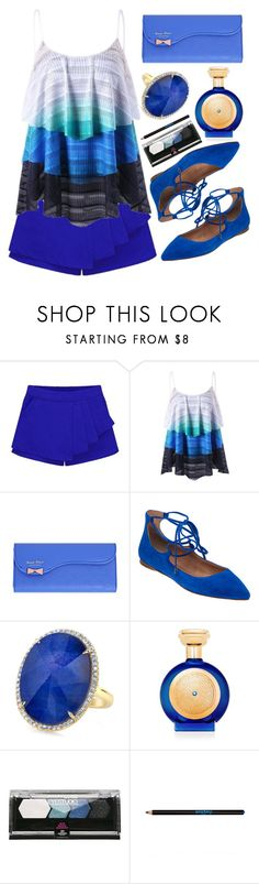 """""""Sapphire Blue"""" by simona-altobelli ❤ liked on Polyvore featuring Sigerson Morrison, Boadicea the Victorious, Maybelline and Sisley"""