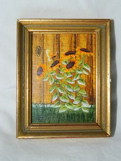Hey, I found this really awesome Etsy listing at https://www.etsy.com/listing/170580371/vintage-miniature-oil-painting-sun