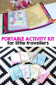 Portable activity kit for toddler