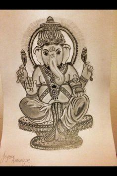 Something I did for my mums birthday. Ganesh!