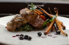 GRILLED QUAIL – Garlic Sausage | Bulgur | Scarlet Carrots | Blueberry Agrodolce