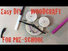Snadná myška ze dřeva pro předškoláky. - YouTube