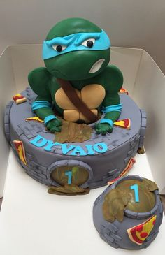 Ninja turtle cake made by angelique bond from the netherlands