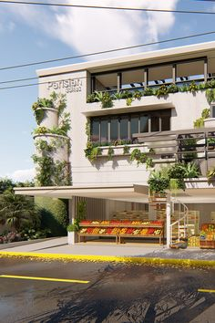 A Parisian concept, this is a renovation project converting an existing 4 level house into a business hotel while retaining the store on the ground level. The existing structure has a unique character that the client wants to be retained. The introduction of plants in the façade showcases the identity of the client. Cebu, How To Level Ground, Design Firms, Contemporary Architecture, Parisian, Philippines, Facade, Identity, Concept