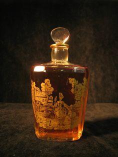 Baccarat Signed Crystal Vintage Perfume Bottle Houbigant Parfum D'Argeville 1913   eBay