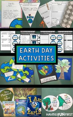 Check out these Earth Day resources for primary grades. Celebrate Earth Day with reading, writing, math, art and science. Center activities, crafts, games, home connect and printables helping to create a great mini unit to celebrate Earth Day. #earthdaycrafts #earthdayactivties