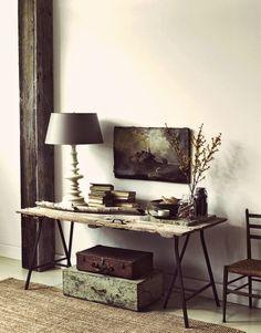 rustic trestle table ♡ teaspoonheaven.com