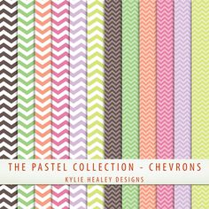 Digital Papers Freebie - Chevrons from the Pastel Collection