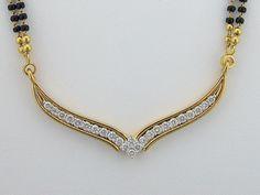 Diamond Mangalsutra Designs India | diamond mangalsutra designs with price