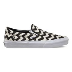 Vans Chevron Slip-On - A fun take on the classic black and white checkerboard slip-on #VansBTSsweeps