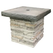 outdoor umbrella holder. Table Patio Umbrella Stand In Stacked Stone Gray Outdoor Holder S