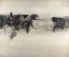 Vasudeo S. Gaitonde (1924-2001), Untitled, 1965. Oil on canvas. 126.4cm H x 152.1cm W.