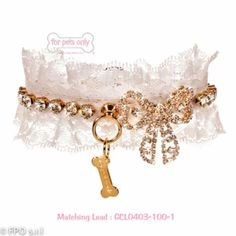 For Pets Only Pure Lace Love Collar