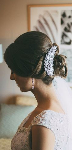 Wedding hair done by Designs By Carly G.