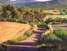 "La Buissonaire - Oil on canvas 9"" x 12"""