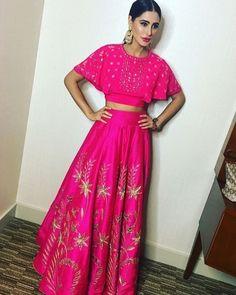 Nargis Fakhri Rock Hot Pink Anita Dongre Outfit