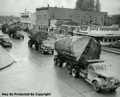Log Trucks Washington State 1940s