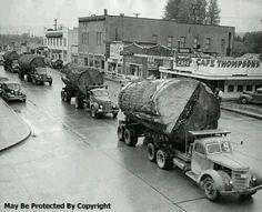 Log Trucks Washington State 1940s