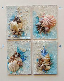 Тема этой маленькой серии - море и песок, гамма очень натуральная, ракушки - само собой :) Как делала: основа - переплетный картон, тексту...