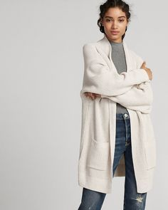 Listen up: this cover-up comes in a soft shaker knit with roomy sleeves that sets the bar for cozy-chic style. Layer it over denim, stretch leggings, shorts or dresses, and get wrapped up in total comfort.