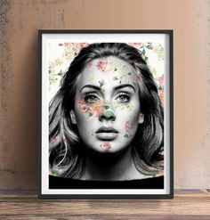 Adele Floral Art Print or Canvas Wall Art Artwork Painting