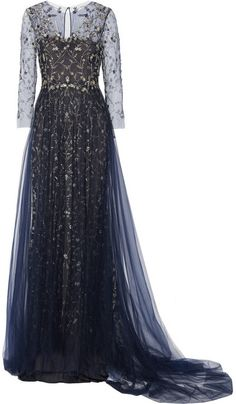 Marchesa Embellished tulle gown on shopstyle.com