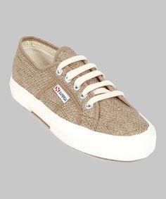 Look at this #zulilyfind! Light Brown Rafiaw Sneaker - Women by Superga #zulilyfinds