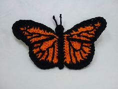 Monarch Butterfly, Pattern $2 USD...hmmm, I had joked about a Hunger Games costume like Effie's, maybe it could be done in crochet. ..