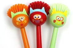 Owl Kitchen Brush #Owl #Kitchen #Brush