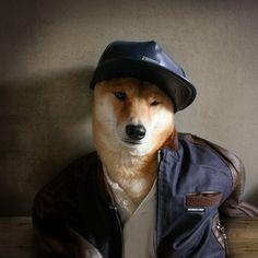 Menswear Dog Baseball Jacket: Members Only | Henley: Club Monaco | Leather Cap: Supreme New York