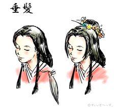 heian hairstyle