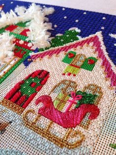 It's not your Grandmother's Needlepoint: The House With Pink Eaves