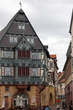 Oldest German Hotel still in operation by PauPePro Miltenberg, Bavaria, Germany Beautiful Buildings, Beautiful Places, Places Around The World, Around The Worlds, Pictures Of Germany, Places To Travel, Places To Visit, German Architecture, Famous Castles