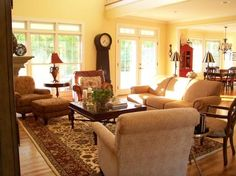 From Pottery Barn open airy cozy living area.