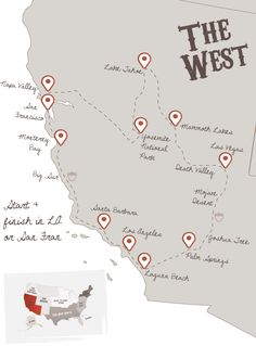 This Route On The West Coast Is The Most Known Route Thats - Simple map of western us
