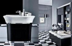 mirrored surface bathrom design interior modern