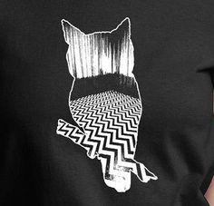 Twin Peaks Owl Ladies T Shirt Fringe Dead Like Me OVO White Ink 100 Cotton Tee | eBay