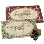 Personalized Doormat with Standing Horse
