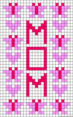 I love you Mom perler bead pattern