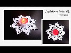 Szydełkowy świecznik 12 cm - TUTORIAL - krok po kroku - YouTube Youtube, Crochet Earrings, Candles, Flowers, Christmas, Soap, Bricolage, Xmas, Candy