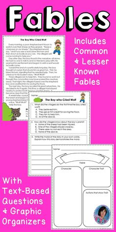 Aesop's Fables & Questions: Guided Reading Levels I - L {School Closing Packets} Guided Reading Levels, Reading Skills, Teaching Reading, Teaching Ideas, First Grade Reading Comprehension, Third Grade Reading, Text Complexity, Library Lessons, Reading Centers