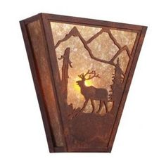 Steel Partners Elk Vegas 1 Light Wall Sconce Shade Color: Slag Glass Pretended, Finish: Mountain Brown
