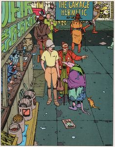 Moebius - Airthight Garage US edition Jean Giraud, Moebius Comics, Moebius Art, Science Fiction, Manado, Heavy Metal, Western Comics, Ligne Claire, Sketch Inspiration