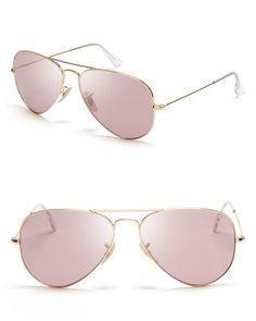 Ray-Ban Original Polarized Aviator Sunglasses | Bloomingdale's
