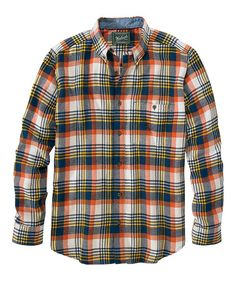 Men's Trout Run Plaid Flannel Shirt - Medium