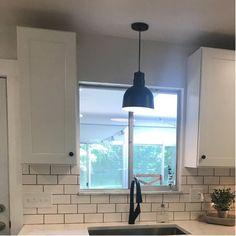 Fitzhugh 1-Light Kitchen Inverted Pendant & Reviews | Birch Lane Over Kitchen Sink Lighting, Kitchen Sink Window, Modern Kitchen Sinks, Modern Farmhouse Kitchens, Country Kitchen, Modern Farmhouse Lighting, Farmhouse Pendant Lighting, Kitchen Pendant Lighting, Kitchen Pendants