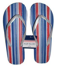American Flag Striped Flip Flops #stellasaksa #flipflops #americanflag