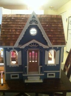 Dollhouse before. Exterior front.
