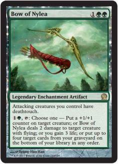 Bow-of-Nylea-x4-Magic-the-Gathering-4x-Theros-mtg-rare-card-lot-rare-green